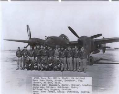 49th Pursuit Squadron, Mills Field, CA 4-22-1942