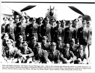 49th FS Circa 1944-Note Lt Semple Second row