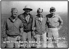 With the passing earlier this year of Joel Owens, the four men pictured above are all now flying with Billy Mitchell. Joel was an Ace with the 49th Fighter Squadron. He was credited with five kills