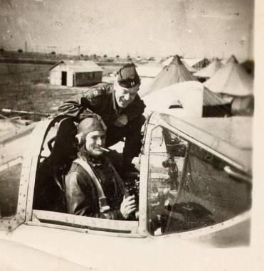 Capt. Carr, Lt. Forrester (in cockpit)