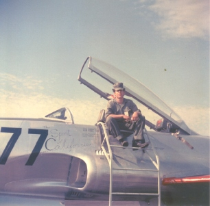 Buck Madruga on his T-33