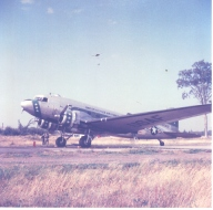 C-47 at Dow. Tom Statler is Crew Chief