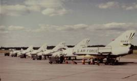 The flight line at Griffiss AFB