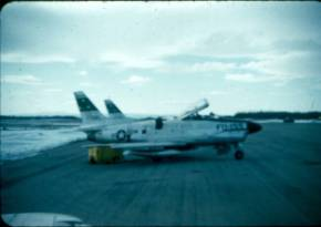 Two F-86Ds waiting to go up
